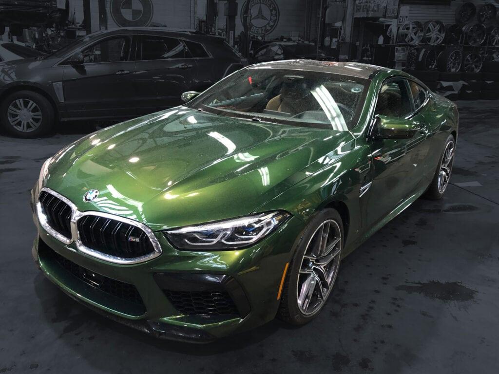 green car wrap